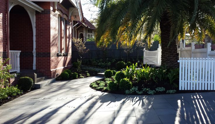 Bluestone paving complements this period style home