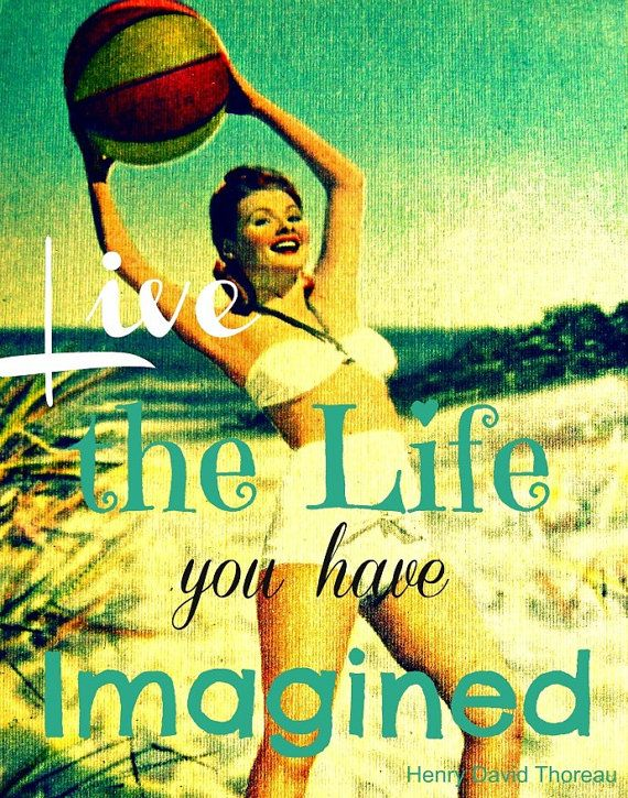 Dorm Decor 16x20 LIVE THE LIFE you have Imagined