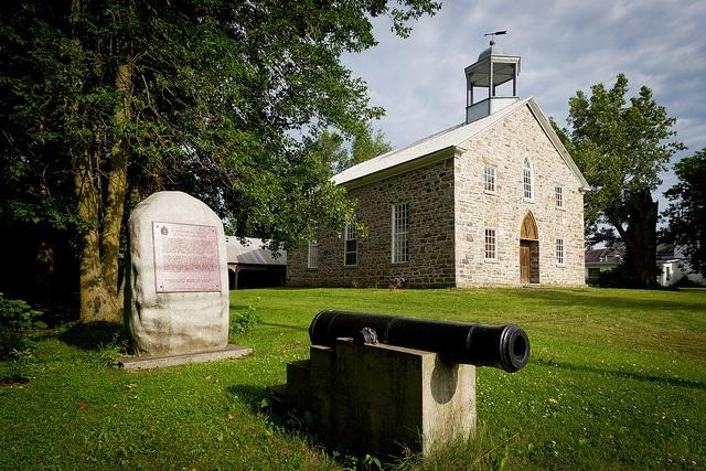 Construite en 1823-1824, l'Église méthodiste d'Odeltown est classée site historique.
