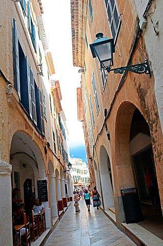 Old Quarter in Ciudatella, Menorca.