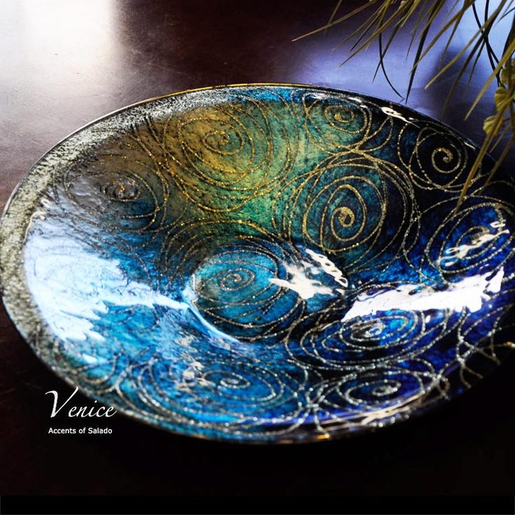 Venice Decorative Glass Bowl Bowls Glasses And