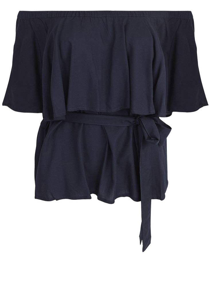 May the Label  - Violet Top In Ink With Waist Tie