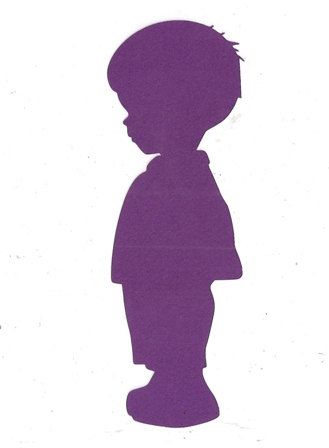 Adorable little boy silhouette by hilemanhouse on Etsy, $1.99