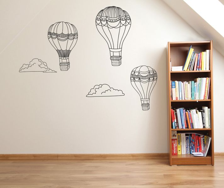 Stickaroo Wall Decals - Hot Air Balloons