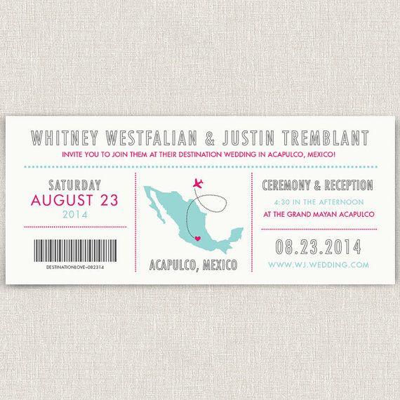 Journey - Modern destination wedding invitation with map
