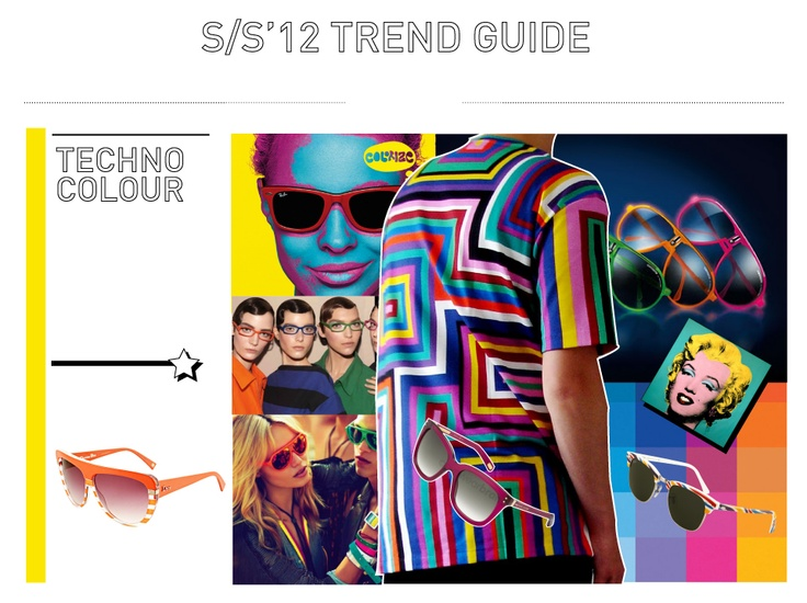 Techno Colour: Not wanting to hide away this season, make a statement? The