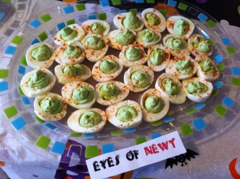 Give your guests a scream with these Halloween food ideas! Tricks and Treats: 13 Ghoulishly Good Halloween Party Food Ideas