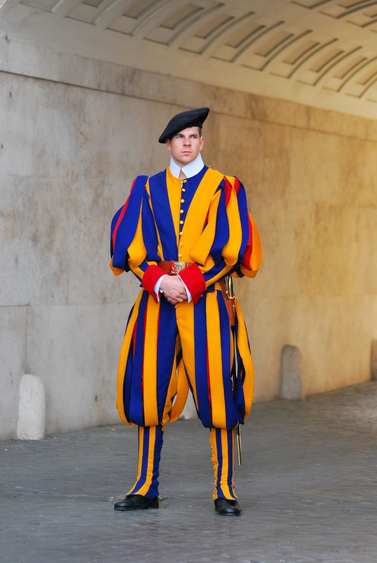 Swiss Guard posted at St. Peter's Basilica, Vatican City. The name Swiss Guard generally refers to the Pontifical Swiss Guard of the Holy See stationed at the Vatican in Rome.