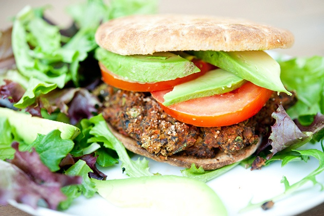 Black Bean Burger for Meatless Mondays