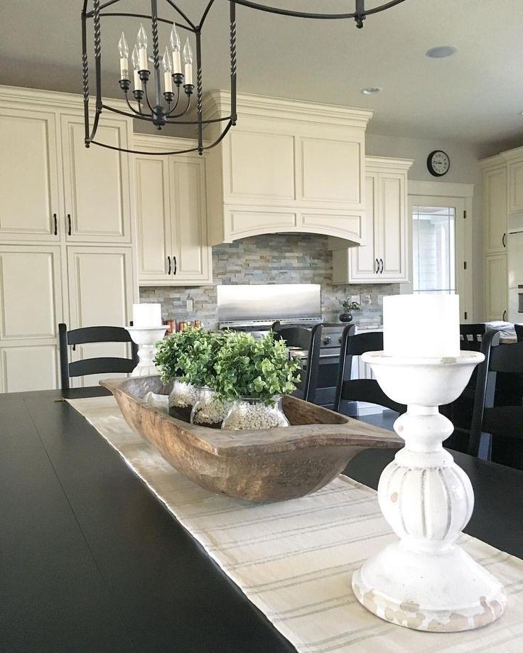 Use white aquarium gravel as inexpensive vase filler! Modern farmhouse kitchen. | Farmhouse Redefined (@farmhouseredefined) on Instagram
