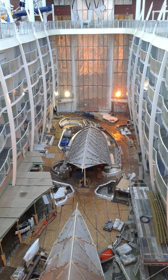 View down into Central Park on Harmony of the Seas from deck 15 most likely. Thanks to Adam Crown for sharing photo.