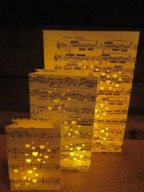 Sheet Music Luminary Bags Sheet Music Luminaries by Oldendesigns