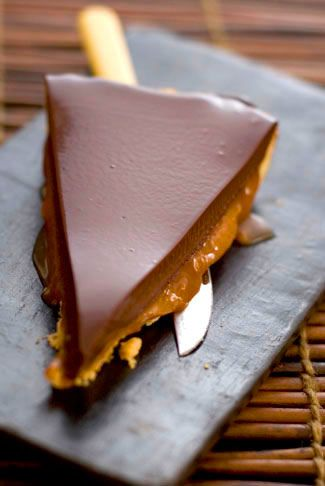 Chocolate and salted caramel tart