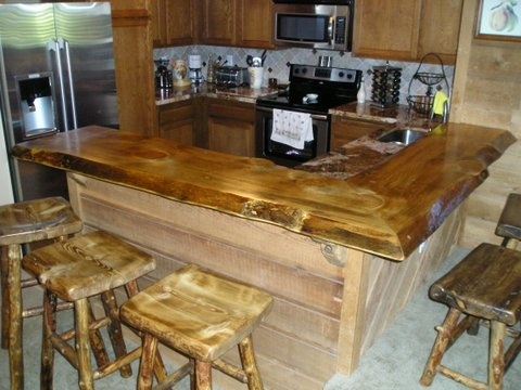 Log Furniture   Custom Counter Tops And Barstools   Brent Taylor Artist    Cabin Creek Log