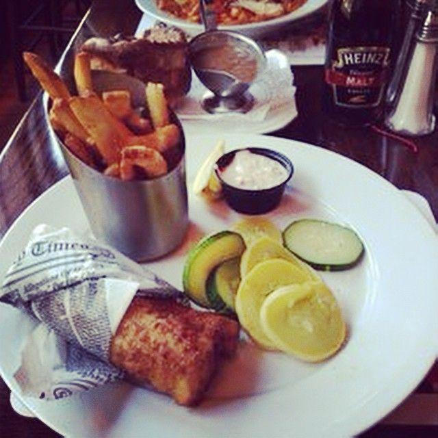 Fish And Chips At Churchill S Pub In Savannah