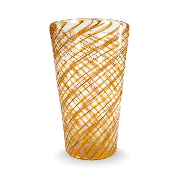 """Twisted Ears of Corn"" - Murano Glass Vase €700,00 by #AbateZanetti | http://www.abatezanettimurano.com/en/murano-glass-vases/twisted-ears-of-corn-murano-glass-vase.html#.VSZJuZSsWK0 #venice #veniceglass #murano #muranoglass #vase #handmade #madeinitaly #glass  #vetro #homedecor #transparency #yellow #orange #spiral #light #shadows #earsofcorn  #sun"