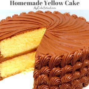 Moist and Delicious Yellow Cake Recipe by MyCakeSchool.com! Online Cake Tutorials, Cake Recipes, and More!