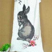100% хлопок дети пляжное полотенце мультфильм горошек кролик полотенца ванная комната урожай япония круговая ткацкий станок Toalla плайя гранде(China (Mainland))