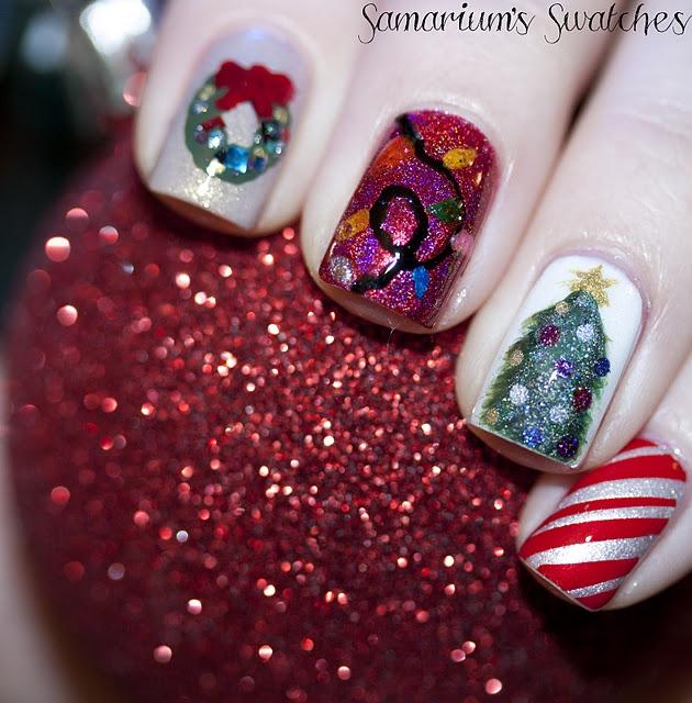 ///: Nails Art, The Holidays, Makeuphairnailsbeauti Stuff, Christmasi Skittles, Christmas Nails, Art Ideas, Theme Nails, Holidays Nails, Holidays Seasons