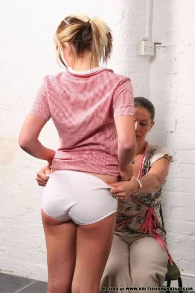 girls spanked panties down