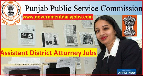 PPSC Jobs 2017-2018 Assistant District Attorney Recruitment Notification