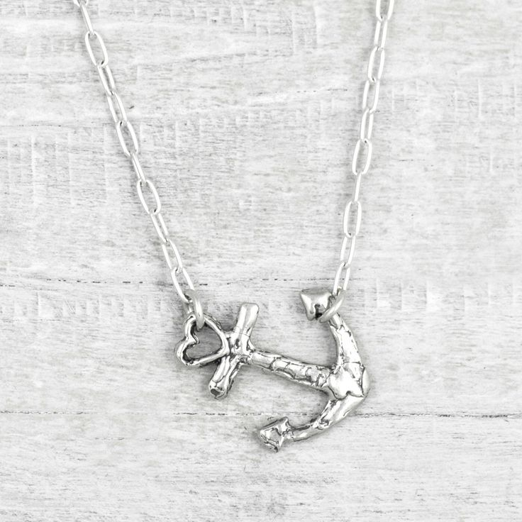Swept Away Anchor Necklace- Anchor Jewelry- Nautical Necklace- Nautical Jewelry- Ocean Necklace - N720 by islandcowgirl on Etsy https://www.etsy.com/listing/493478543/swept-away-anchor-necklace-anchor