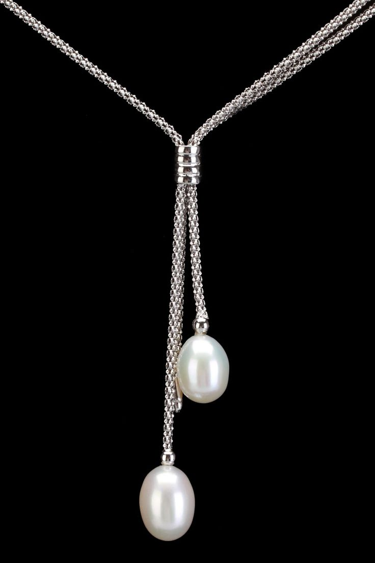 Splendid Pearls 8-9mm Pearl Pendant Necklace In White - Beyond the Rack