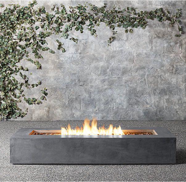 Mendocino Propane Rectangle Fire Table Outdoor Living