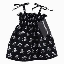Skully sundress alternative goth punk rock metal baby clothes