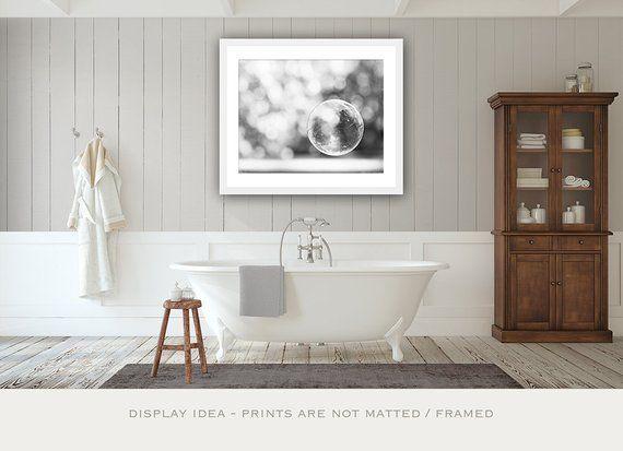 Grey Bubble Art Print Black And White Neutral Bathroom Decor Etsy Gray Bathroom Decor Kid Bathroom Decor Grey Bathrooms