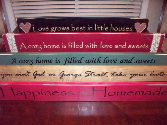 Large Rustic Home Decor Signs3 foot custom by hillbillychicdesigns, $20.00