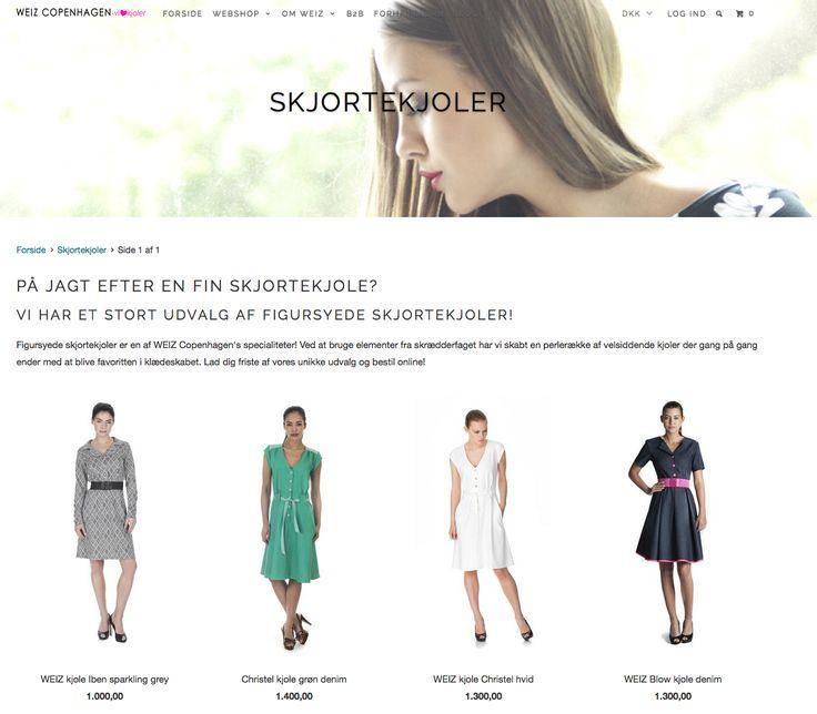 Skjortekjoler og andre trendy #kjoler fra Weiz #skjortekjole