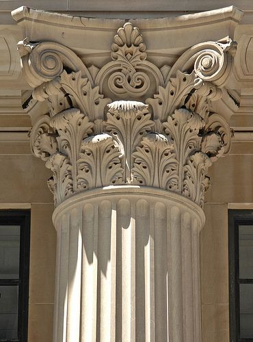 This is a Corinthian column it has beautiful but complicated patterns on it.