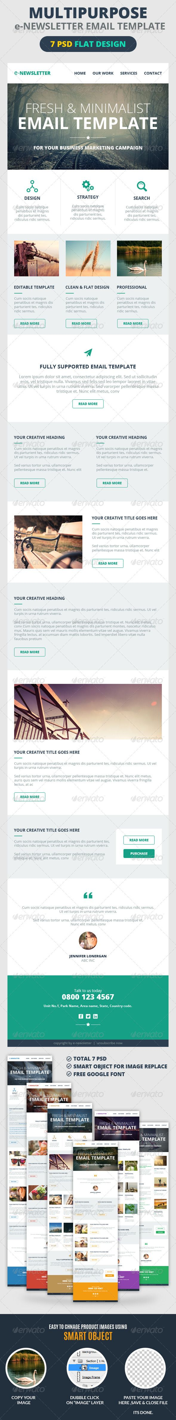Best ENewsletter Template Images On   Newsletter