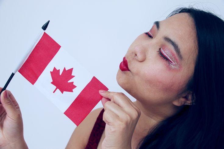 Happy Canada Day! | Happy Canada Day! 150 – The Picky Princess  #thepickyprincess #princess #canadaday #canadian #redeyeliner #vividbrights #nyxcosmeticsvividbrights #goldglitter