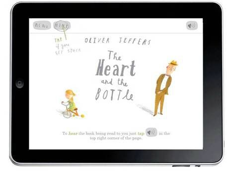 "Harper Collins announced that it will release Oliver Jeffers' classic children's books as iPad apps starting with ""The Heart in the Bottle""."
