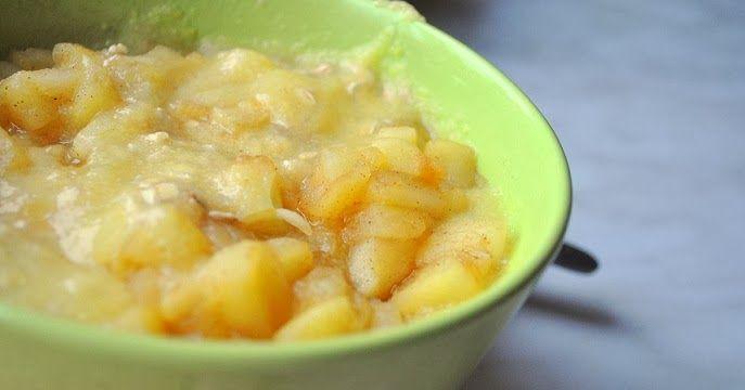 Pasja Kobiety: Kaszka kukurydziana z musem jabłkowym na śniadanie