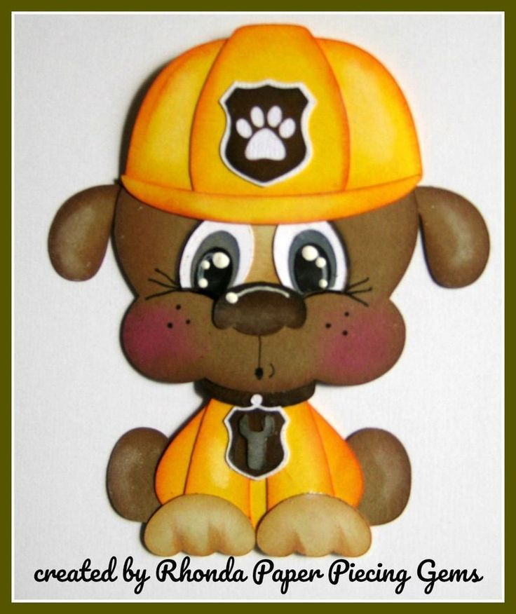 PAW PATROL RUBBLE cartoon character die cut for Premade Scrapbook Page by Rhonda #Unbranded