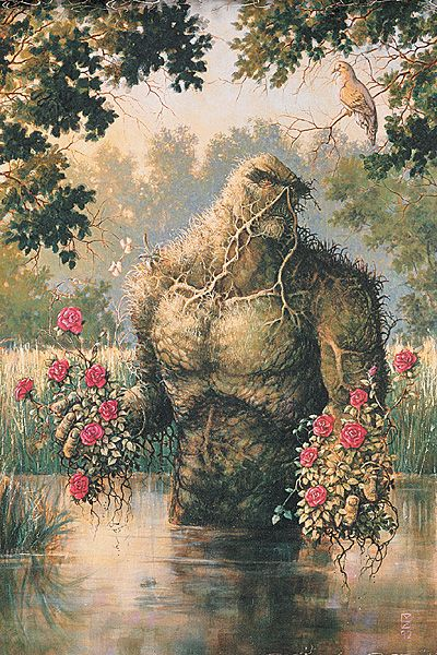 Swamp Thing likes pretty flowers.