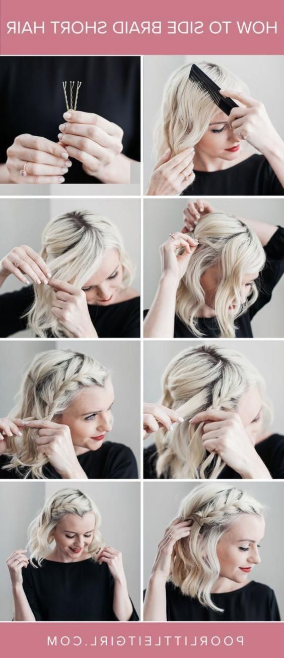 How To Side Braid Kurzes Haar – Hair Tutorial – Braid – Armes kleines Mädchen  …