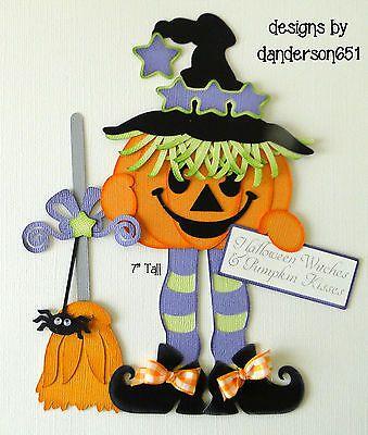 Halloween Pumpkin Paper Piecing PreMade Borders Scrapbook Albums danderson651