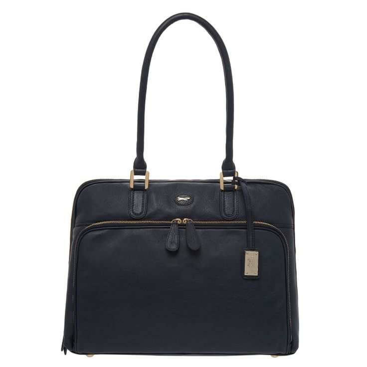Dark Blue Leather Tote Bag for £79.99. The perfect college bag!