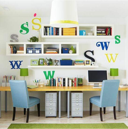 IKEA LACK Office Shelves - off centered