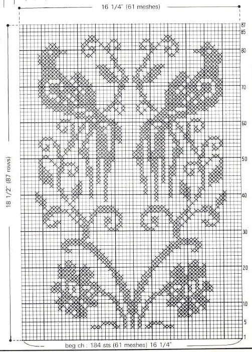 carpeta aves rug mini cross stitch