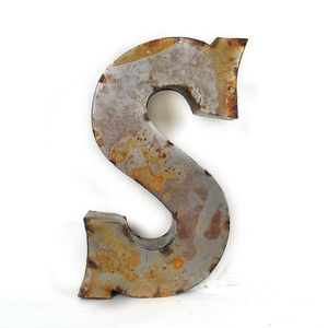 small metal letters tin letter small s 36 now featured on fab for the 24901
