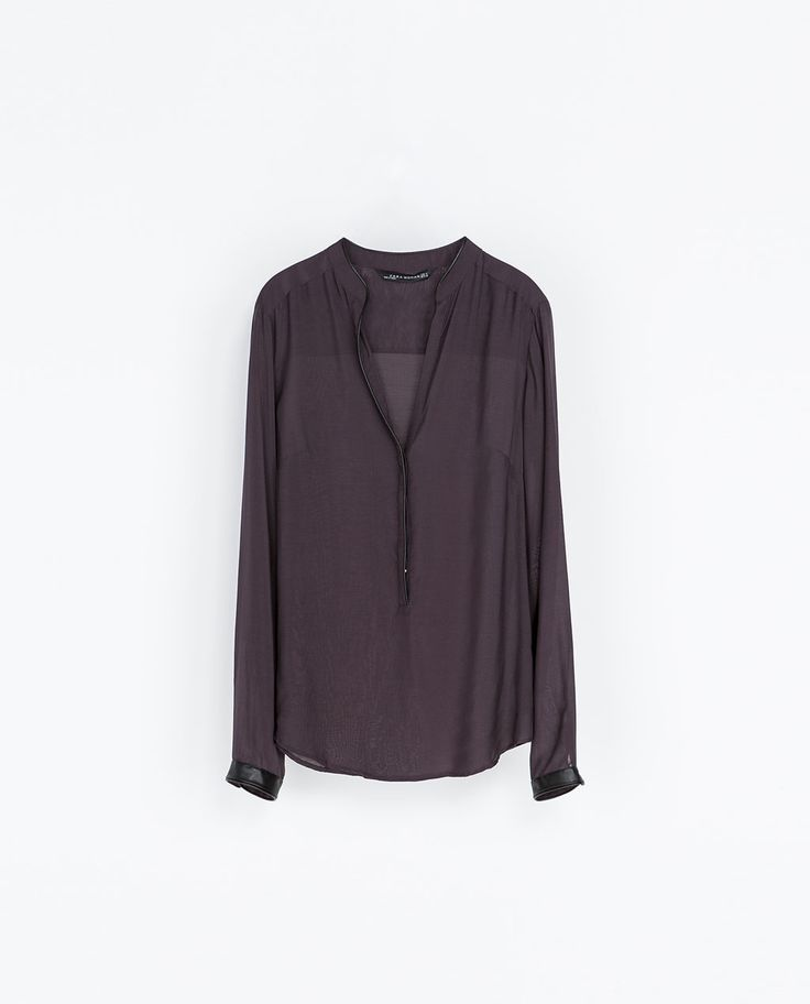 ZARA - WOMAN - SHIRT WITH CONTRASTING COLLAR