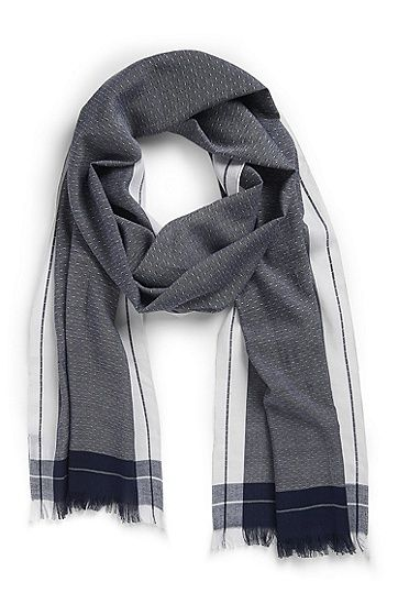 'Cedo' | Cotton-Blend Scarf by BOSS