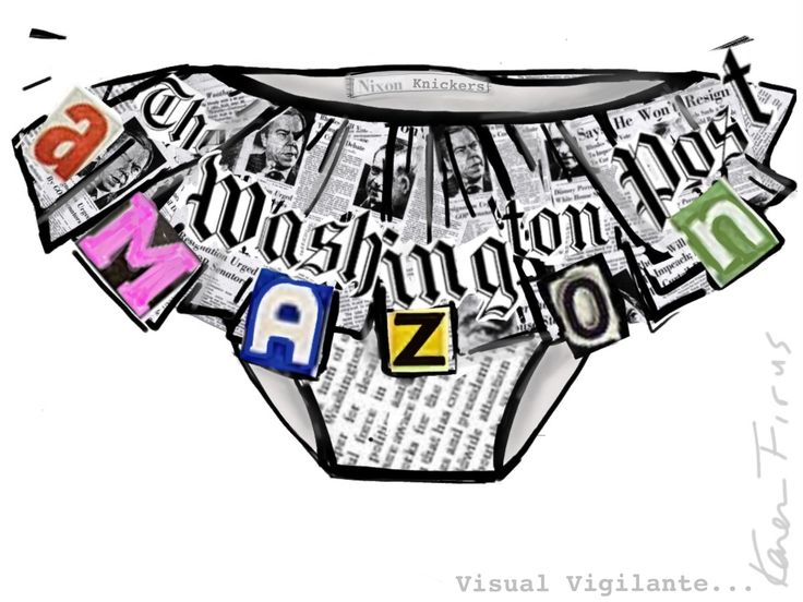 MY NIXON KNICKERS!!! Commemorating Amazon buying The Washington Post with smudgy newsprint panties! xox V.V.