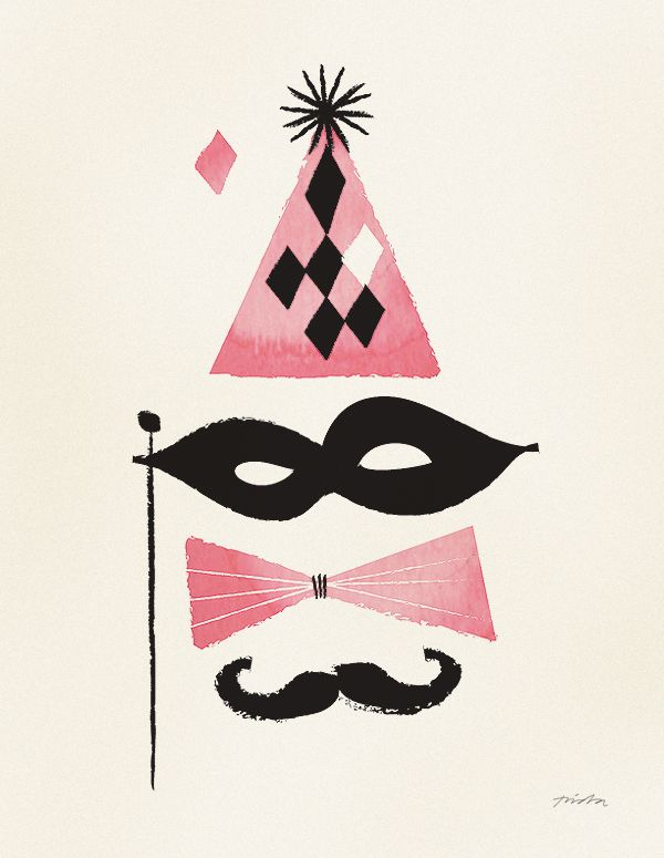 #moustache #mask #illustration