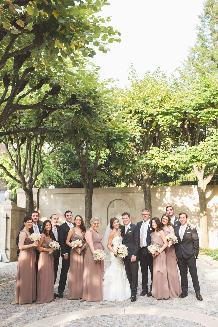 Elegant Meridian House Wedding Taupe Wedding Charcoal